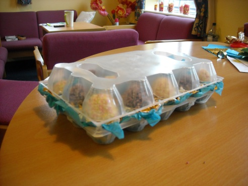 chocolate egg carton