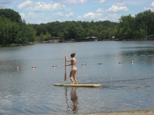paddle boarding in Poconos