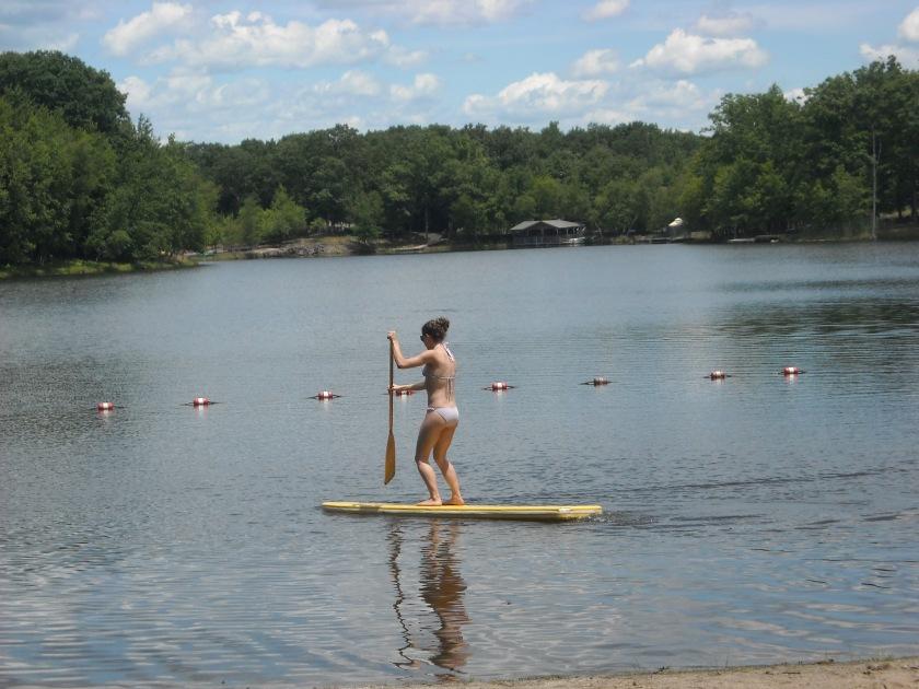paddle boarding in Poconos