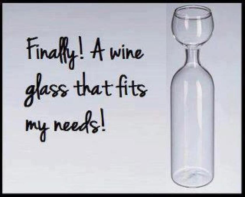 funny wine bottle image