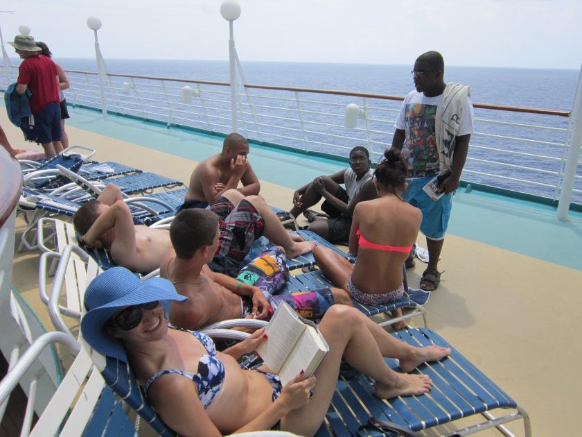 teenagers on cruise