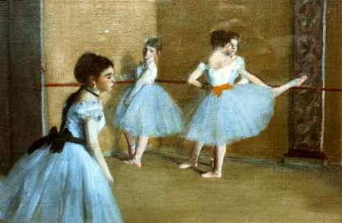 degas ballet class