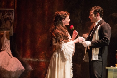 Julia Udine as Christine Daaé and Ben Jacoby as Raoul. Photo: Matthew Murphy
