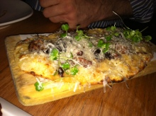 One of two flatbreads