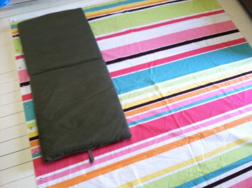 Use your cushion to measure the fabric for your cover