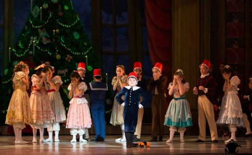 The School of Pennsylvania Ballet Student Rowan Duffy and Artists of Pennsylvania Ballet in George Balanchine's The Nutcracker™ Photo: Alexander Iziliaev