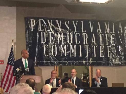 Corey Booker at PA Delegation Breakfast